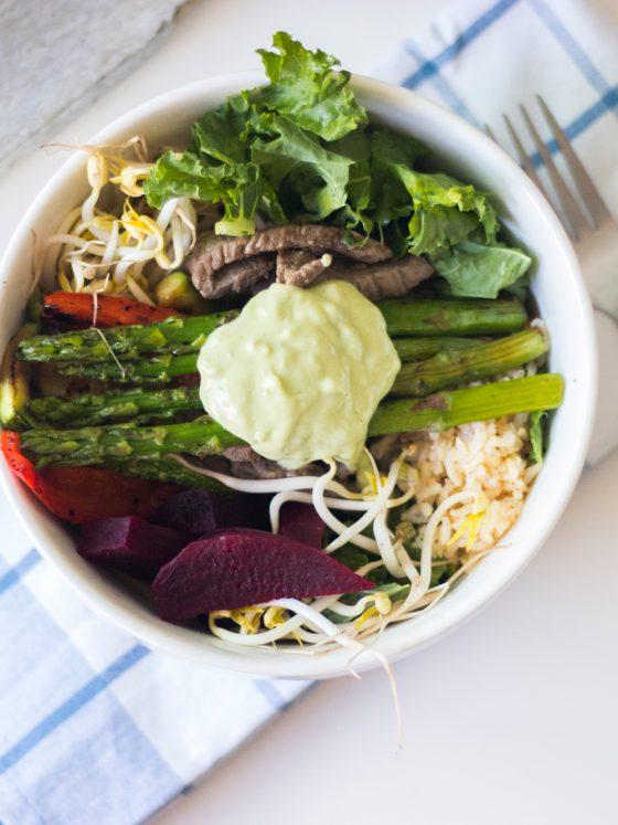 bowl de vegetales