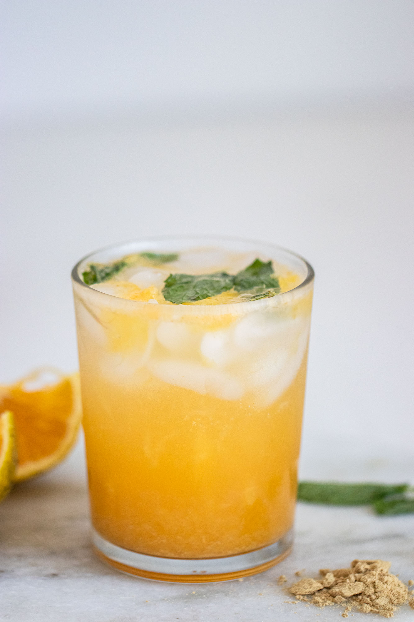 Bebida refrescante de naranja